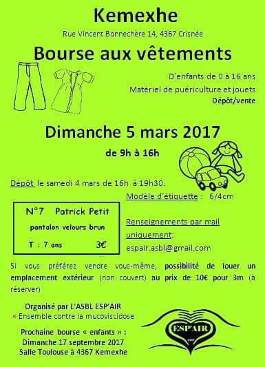 Bourse vtements